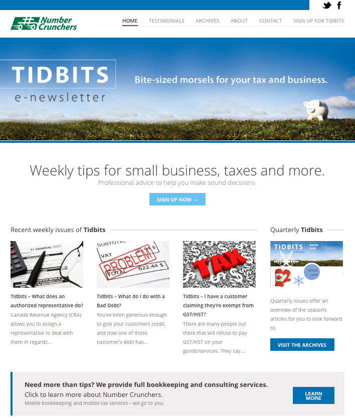 TidBits | Bite-size morsels for your tax and business
