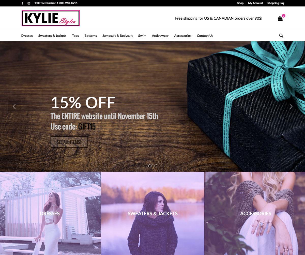Kylie Styles Homepage (Desktop)